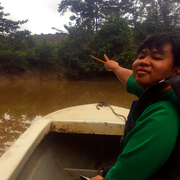 Steve Peter rocking the Kinabatangan